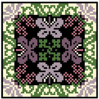 Landmark Tapestries & Charts Arts & Crafts Orchid Pincushion Cross Stitch Pattern
