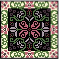 Landmark Tapestries & Charts Arts & Crafts Rose Pincushion Cross Stitch Pattern