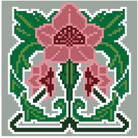 Landmark Tapestries & Charts Arts & Crafts Geranium Pincushion Cross Stitch Pattern