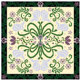 Landmark Tapestries & Charts Arts & Crafts Lily Pillow Cross Stitch Pattern