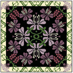 Landmark Tapestries & Charts Arts & Crafts Orchid Pillow Cross Stitch Pattern