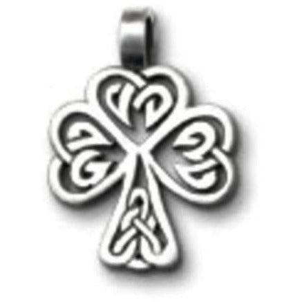 Celtic Legend Celtic Knot Shamrock Pewter Choker Pendant
