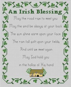 Celtic Obsessions An Irish Blessing Cross Stitch Pattern