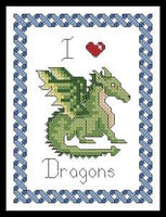 Artecy I Love Dragons Cross Stitch Pattern