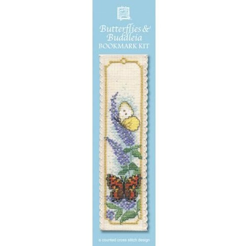 Textile Heritage Butterflies & Buddleia Bookmark Cross Stitch Kit