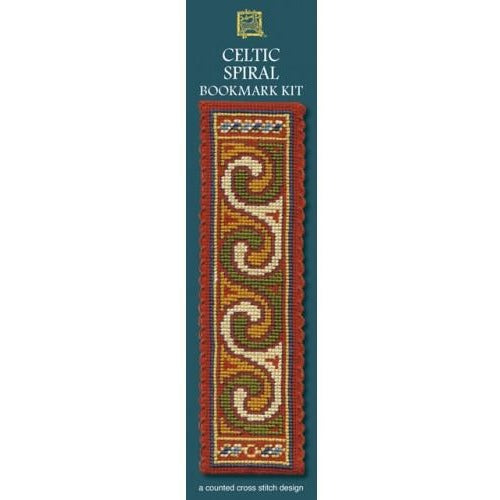 Textile Heritage Celtic Spiral Terracotta Bookmark Cross Stitch Kit