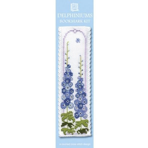 Textile Heritage Delphiniums Bookmark Cross Stitch Kit