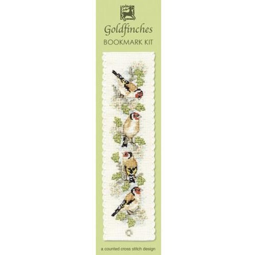Textile Heritage Goldfinches Bookmark Cross Stitch Kit