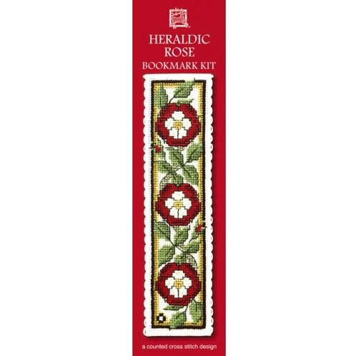 Textile Heritage Heraldic Rose Bookmark Cross Stitch Kit