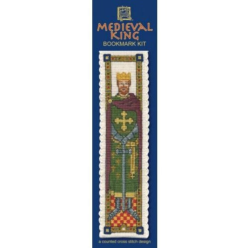 Textile Heritage Medieval King Bookmark Cross Stitch Kit