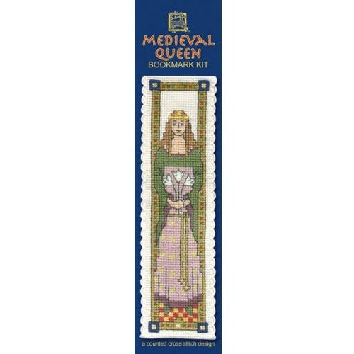 Textile Heritage Medieval Queen Bookmark Cross Stitch Kit