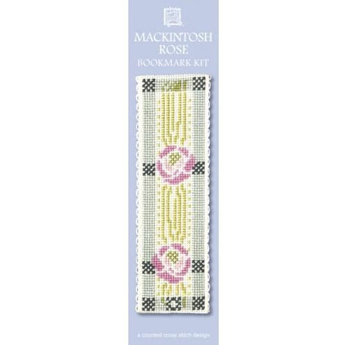 Textile Heritage Mackintosh Rose Bookmark Cross Stitch Kit