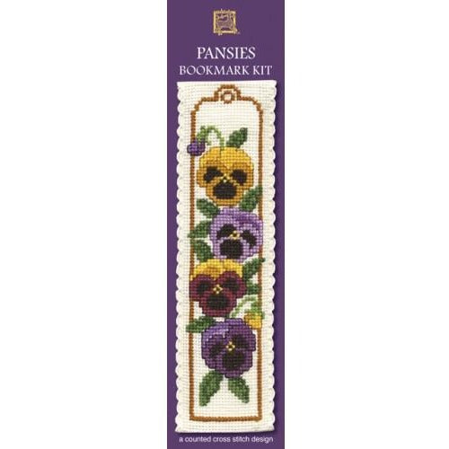 Textile Heritage Pansies Bookmark Cross Stitch Kit