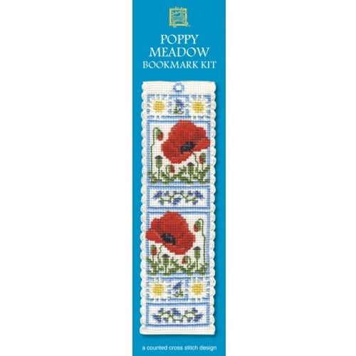 Textile Heritage Poppy Meadow Bookmark Cross Stitch Kit