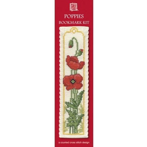 Textile Heritage Poppies Bookmark Cross Stitch Kit