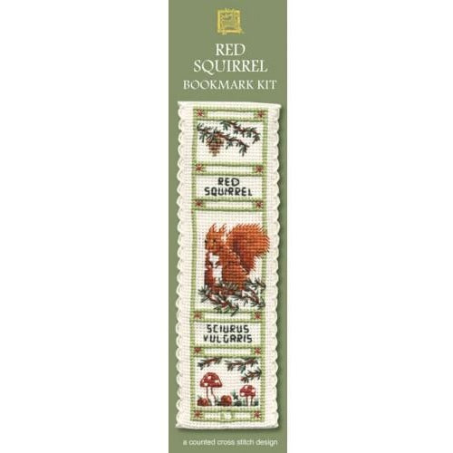 Textile Heritage Red Squirrel Bookmark Cross Stitch Kit