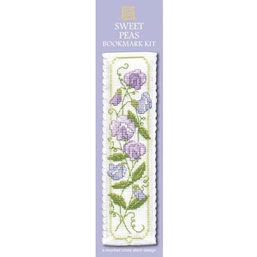 Textile Heritage Sweet Peas Bookmark Cross Stitch Kit