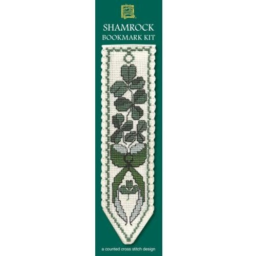 Textile Heritage Irish Shamrock Bookmark Cross Stitch Kit