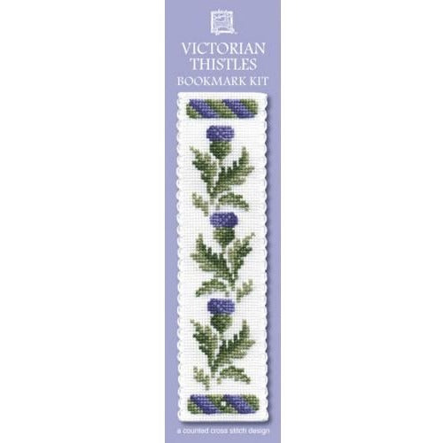 Textile Heritage Victorian Thistles Bookmark Cross Stitch Kit