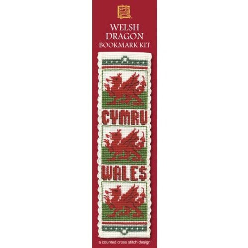 Textile Heritage Welsh Dragon Bookmark Cross Stitch Kit