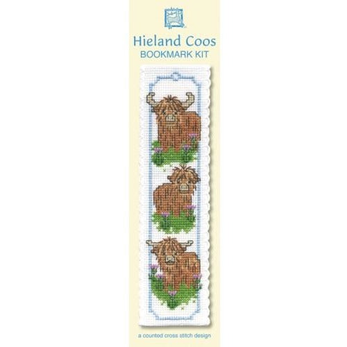 Textile Heritage Hieland Coos Bookmark Cross Stitch Kit