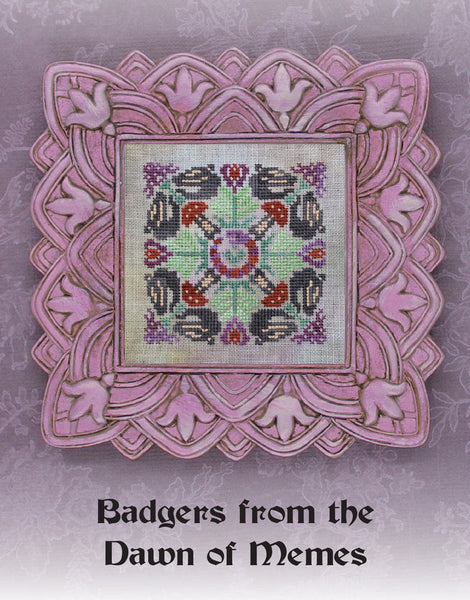 Ink Circles Badgers from the Dawn of Memes Cross Stitch Pattern