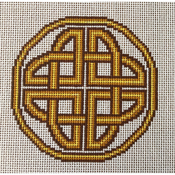 Bebhionn Celtic Knot Hand Painted Needlepoint Canvases