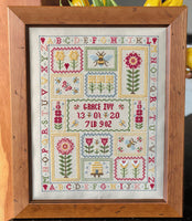Historical Sampler Company Bee Birth Sampler Cross Stitch Pattern