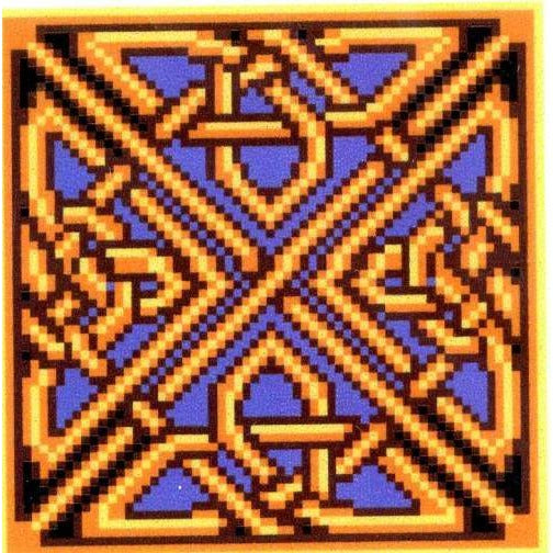 Belisima Golden Celtic Knot - Cross Stitch Pattern
