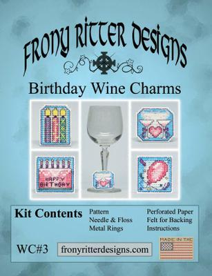 Frony Ritter Birthday Wine Charms Cross Stitch Kit