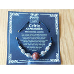 Celtic Pewter Necklace Brecciated Jasper Gem Choker