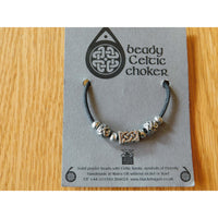 Celtic Pewter Bead Necklace Choker Brick Small Sphere