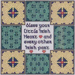 Bless Your Little Irish Heart Cross Stitch Pattern