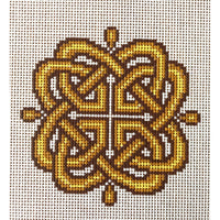 Branwen Celtic Knot Hand Painted Needlepoint Canvases