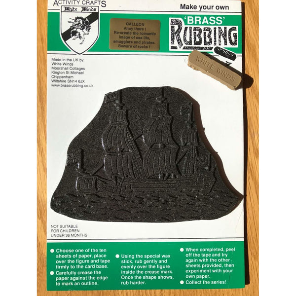 Brass Rubbing Kit Galleon