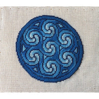 Aberlemno Circle Cross Hand Painted Needlepoint Canvases