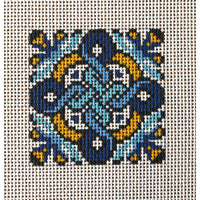 Celtic Blue Cross Hand Painted Needlepoint Canvases