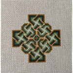 Celtic Knot Cross Hand Painted Needlepoint Canvases