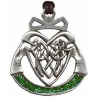 Knotwork Claddagh Pewter Pendant