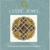 Textile Heritage Celtic Jewel Miniature Card Cross Stitch Kit