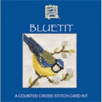Textile Heritage Bluetit Miniature Card Cross Stitch Kit