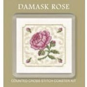 Textile Heritage Damask Rose Coaster Cross Stitch Kit