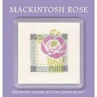 Textile Heritage Mackintosh Rose Coaster Cross Stitch Kit