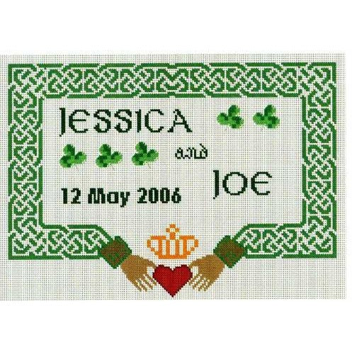 Celtic Obsessions Claddagh Wedding Sampler Cross Stitch Pattern