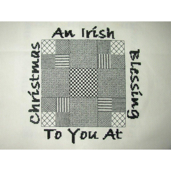 Celtic Obsessions Irish Blessing Christmas Cross Stitch Pattern