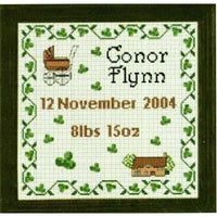 Celtic Obsessions Irish Baby Sampler Cross Stitch Pattern