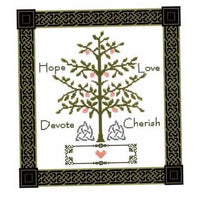 Celtic Obsessions Wedding Sampler Tree  - Celtic Knot Border - Cross Stitch Pattern
