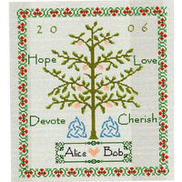 Celtic Obsessions Wedding Sampler Tree Cross Stitch Pattern