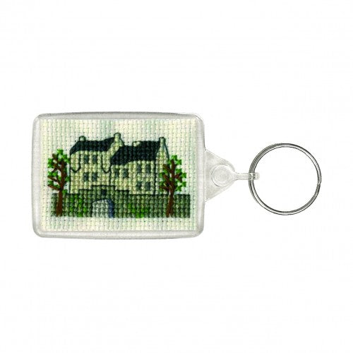 Textile Heritage Castle Keyring Cross Stitch Kit
