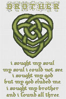 Artists Alley Celtic Brothers Knot Cross Stitch Pattern